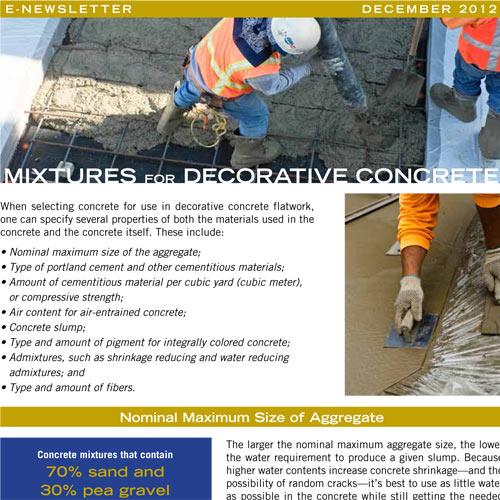 Mixtures for Decorative Concrete