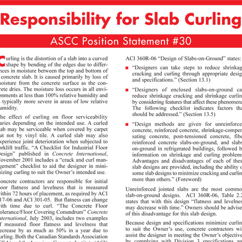 Responsibility for Slab Curling
